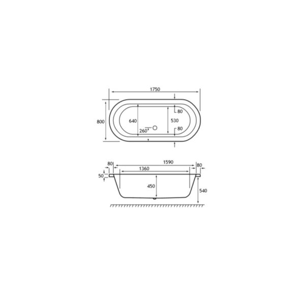 Carron Halcyon 1750 x 800 Inset 5mm Bath