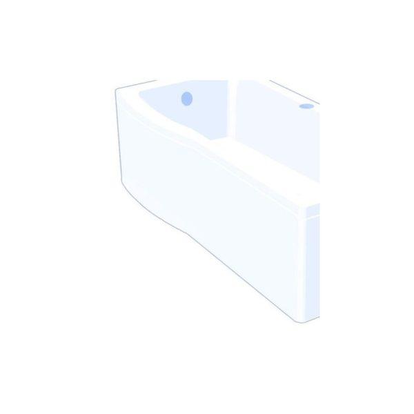 Carron Delta Showerbath Front Panel 1700 x 540mm - Carronite