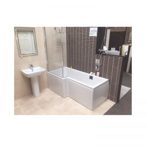 Carron Quantum Square Showerbath 1700 x 700-850 x 420mm Acrylic