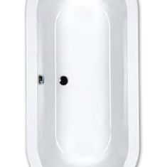Carron Halcyon Round White Freestanding 1750 x 800 x 450mm Carronite Bath
