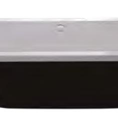 Carron Halcyon Square Black 1750 x 800 x 440mm Freestanding Carronite Bath