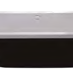 Carron Halcyon Square Black 1750 x 800 x 440mm Freestanding Carronite Bath