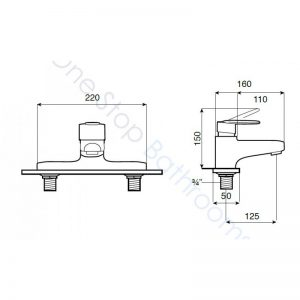 Roca Victoria (V2) Deck Mounted Bath Filler