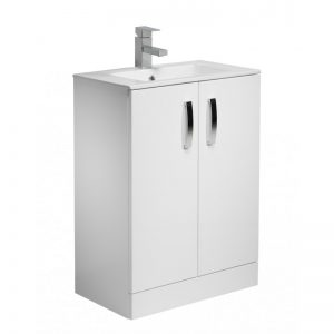 Tavistock Swift Gloss White 600mm Floorstanding Unit & Basin 1TH