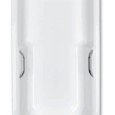 Carron Eco Axis 1700 x 700 x 345mm Twin Gripped Acrylic Bath