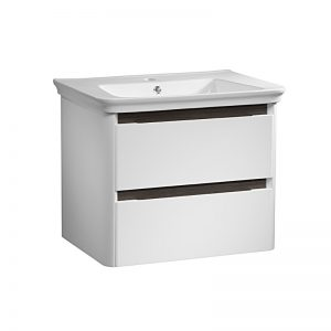 Tavistock Equate 700mm White Wall Mounted Basin Unit with Grey Accent