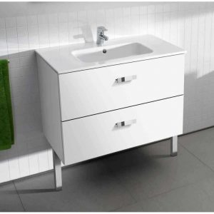 Roca Victoria Basic Unik 800 x 460 x 565mm 2 Drawer Vanity Base Unit & Basin