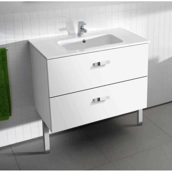 Roca Victoria Unik 800mm White Vanity Base Unit & Basin