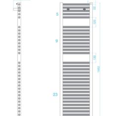 Tissino Hugo2 1652 x 400mm – High Output Towel Radiator – Anthracite