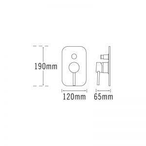 Tre Mercati Milan Manual shower valve with push button diverter