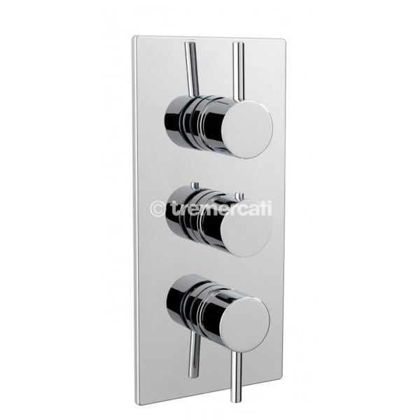Tre Mercati Milan Concealed thermostatic shower valve with 3 way diverter