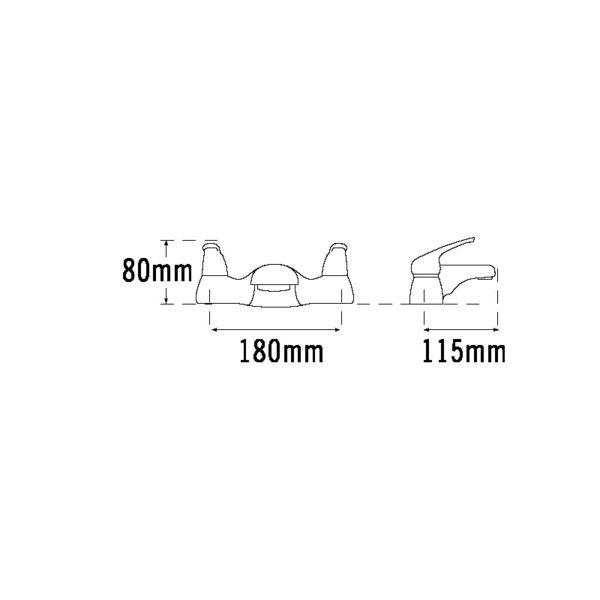 Tre Mercati Modena Deck bath filler