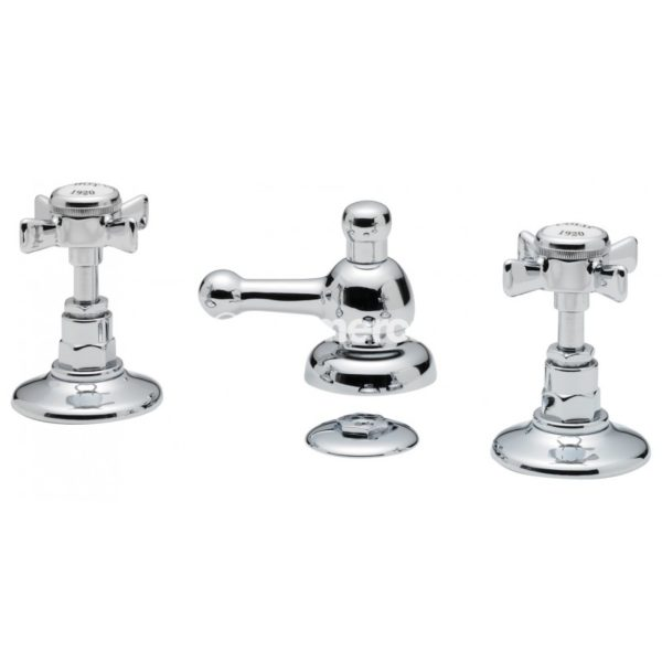 Tre Mercati Imperial 3 hole bidet mixer with pop-up waste