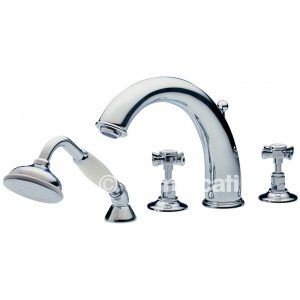 Tre Mercati Imperial 4 Hole Bath Shower Mixer Complete with Kit