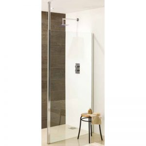 Eastbrook Valliant Square Pole Walk-In Wet Room Panel –  900mm front panel