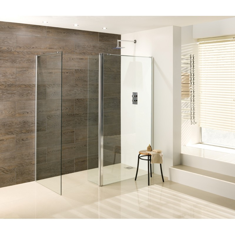 Walk In Shower With Flipper Panel.Eastbrook Valliant Walk In 1100mm Wet Room Panel With 300mm Flipper Type D