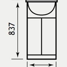 Eastbrook Madrid 41cm Base Unit