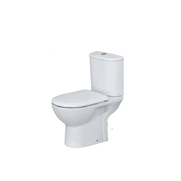 Eastbrook Kompact WC Pan and Cistern with Soft Close Seat