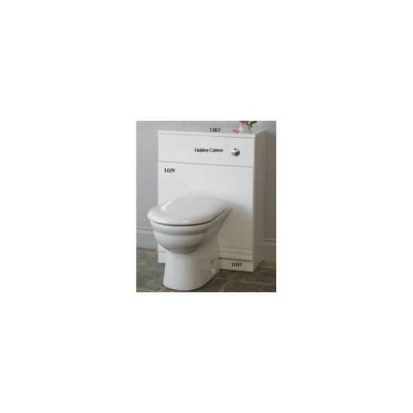 Eastbrook Bonito 60cm WC Unit, Plinth and MDF WC Cover
