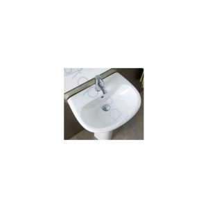 Eastbrook Kompact 550mm Basin 1TH with Full Pedestal