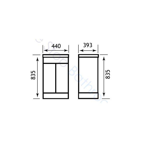 Eastbrook Oslo 44cm Door Base Unit