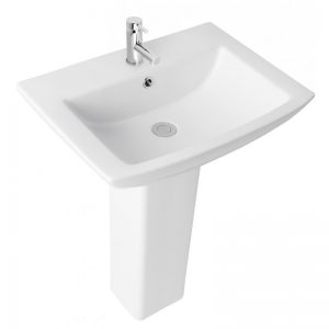 Eastbrook Ultima Basin 590mm 1TH and Full Pedestal