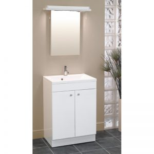 Eastbrook Oslo 58cm 2 Door Base Unit – Gloss White