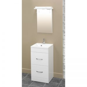 Eastbrook Oslo 44cm 2 Drawer Base Unit – Gloss White