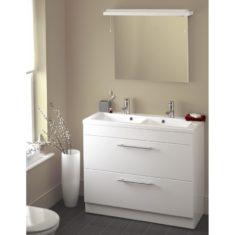 Eastbrook Oslo 100cm Drawer Base Unit and Double Bowl Basins