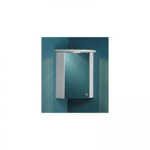 Eastbrook Corner Mirror Cupboard Carcase With Corner Light Cornice
