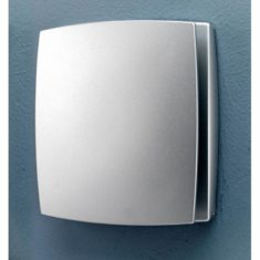 HiB Breeze Matt Silver Wall Mounted Fan With Timer & Humidity Sensor (31400)