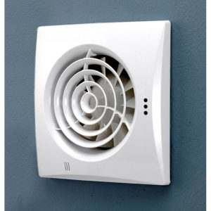 HiB Hush White Wall Mounted Fan With Timer (31500)
