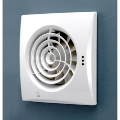 HiB Hush White Wall Mounted Fan With Timer & Humidity Sensor (31600)