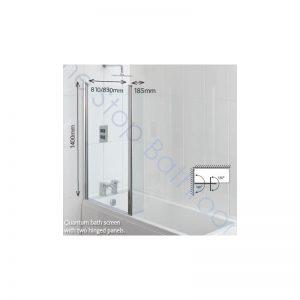 Carron Quantum Showerbath Screen (also suitable for Space Saver & Urban Edge Baths)