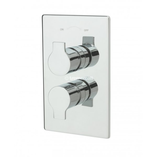 Tre Mercati Angle Concealed Valve with Overhead Square Showerhead