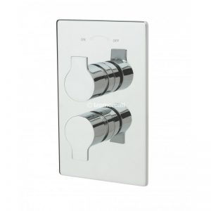 Tre Mercati Angle Concealed Thermostatic Shower Valve with Sliding Rail Kit and Wall Outlet