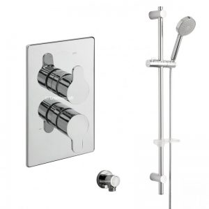Tre Mercati Lollipop Concealed Valve with Sliding Rail Kit and Outlet Elbow