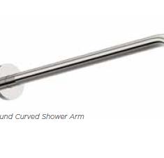 Tissino Round Curved Shower Arm (435mm)