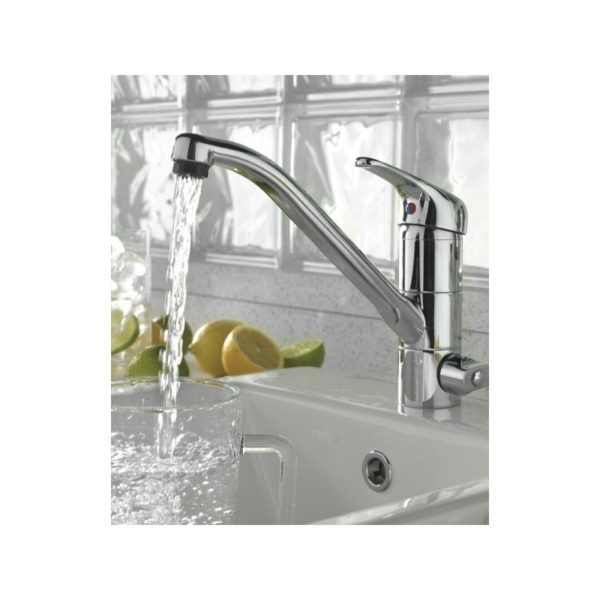 tre-mercati technic mono sink mixer with built in water filter
