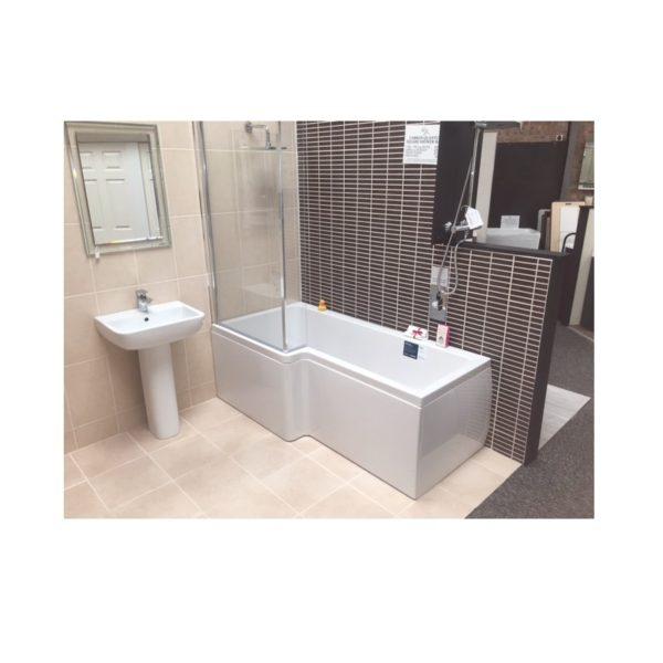 Carron Quantum Square Showerbath 1600 x 700 - 850mm 5mm Acrylic