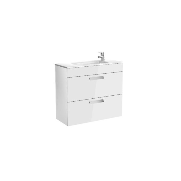 Roca Debba Compact 800mm Vanity Unit and Basin - White