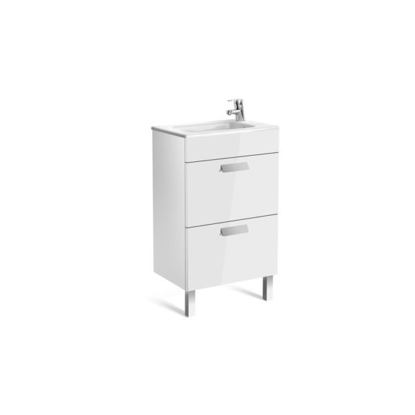 Roca Debba Compact 500mm Vanity Unit and Basin - White