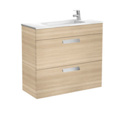 Roca Debba Unik Compact 800 X 360 X 720mm 2 Drawer Vanity Unit and Basin