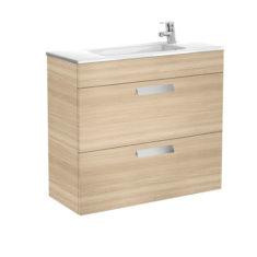 Roca Debba Unik Compact 800 X 360 X 720mm 2 Drawer Vanity Unit and Basin