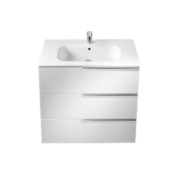 Roca Victoria-N 700mm Drawer Unit and Basin - 3 Drawers