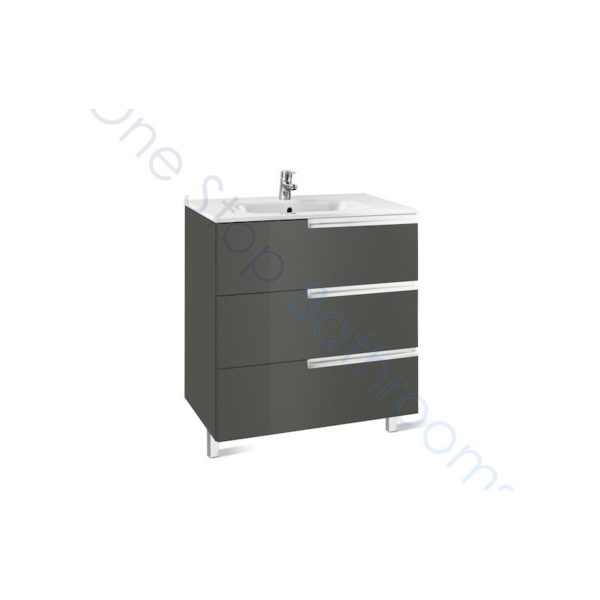 Roca Victoria-N Unik 800mm 3 Drawer Base Unit & Basin