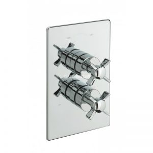 Tre Mercati Traditional Crosshead Concealed Thermostatic Shower Valve with 2 Way Diverter