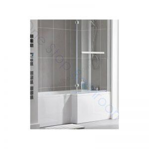 Kensington L Shaped 1700mm Shower Bath, Front Panel & Screen