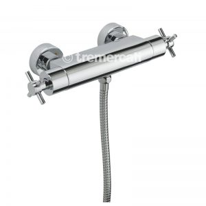 Tre Mercati Crosshead Thermostatic Exposed Valve (82090A) with Sliding Rail Kit