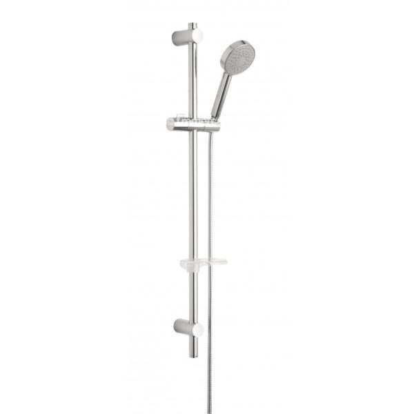 Tre Mercati Crosshead Concealed Thermostatic Shower Valve with 2 Way Diverter and Sliding Rail Kit, Wall Outlet and Showerarm